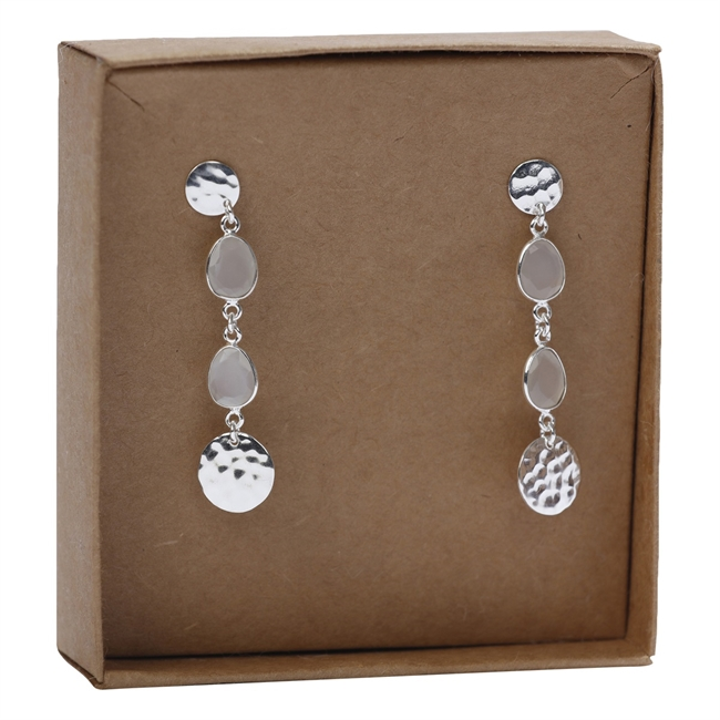 Picture of Earring Alice, silverp/white moonstone