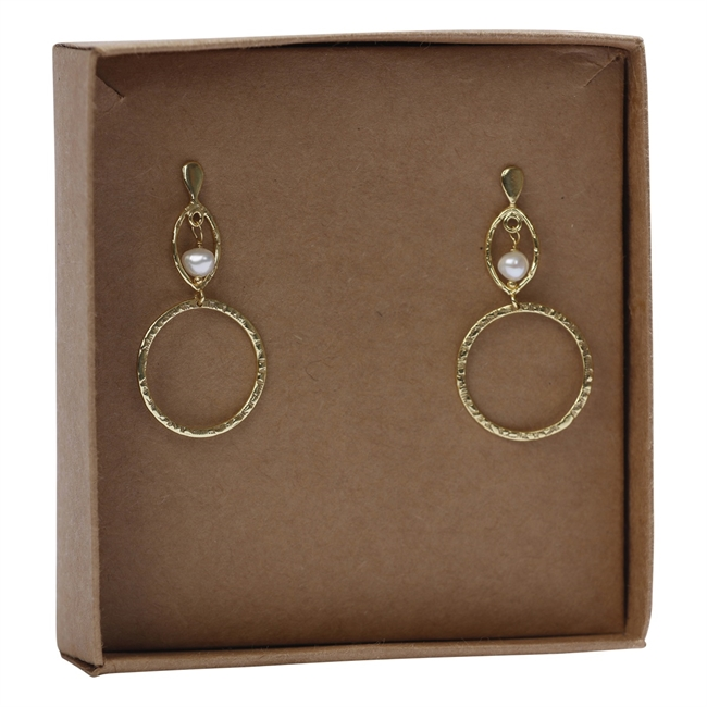Picture of Earring Alessandra, goldp/pearl