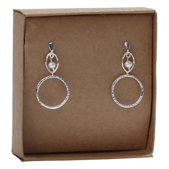 Picture of Earring Alessandra, silverp/pearl