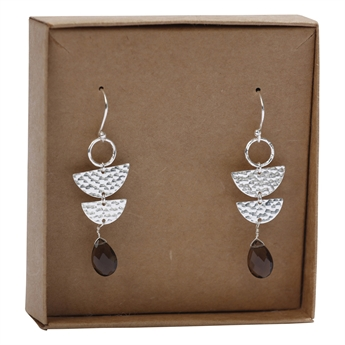 Picture of Earring Susanna, silverp/smoky quartz
