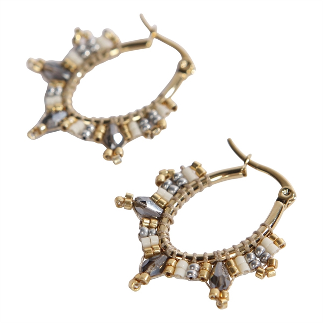 Picture of Earring Celine, gold/ivory