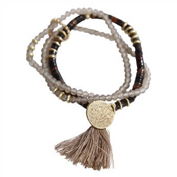 Picture of Bracelet Fifth Ave, brown/gold