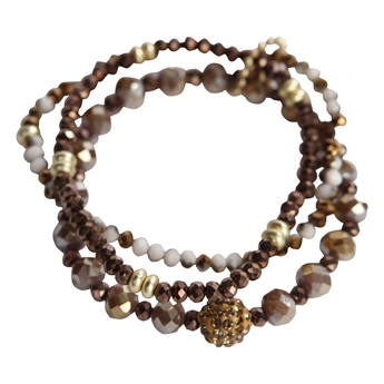 Picture of Bracelet Edith, brown/gold
