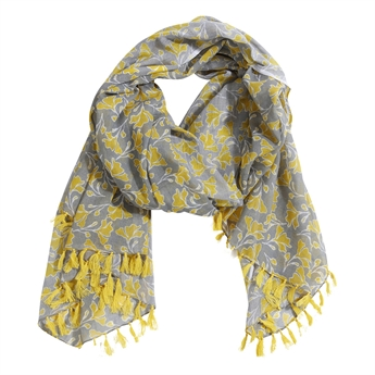 Picture of Parero/scarf Inez, mustard/grey