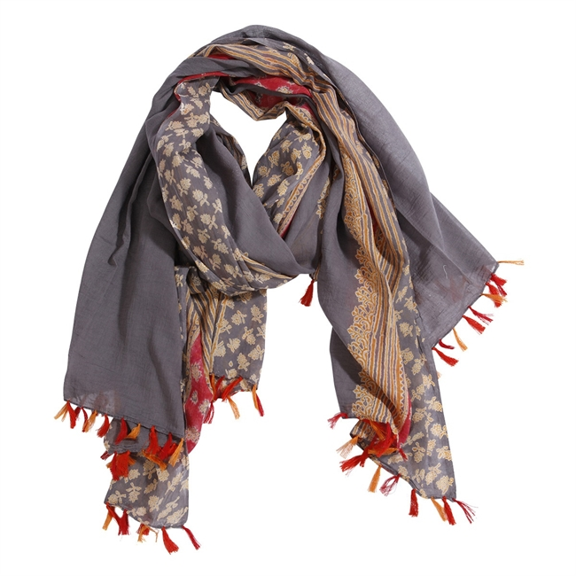 Picture of Parero/scarf Andrea, grey/red mix
