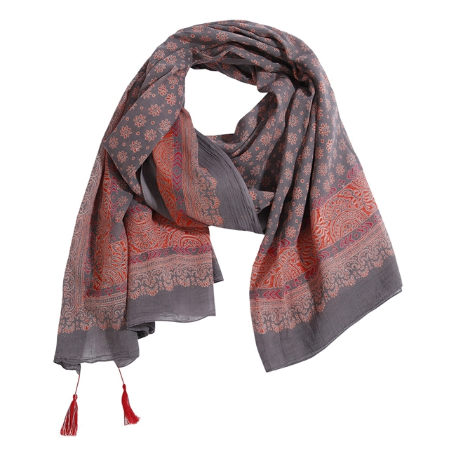 Picture of Parero/scarf Brianna, red/grey