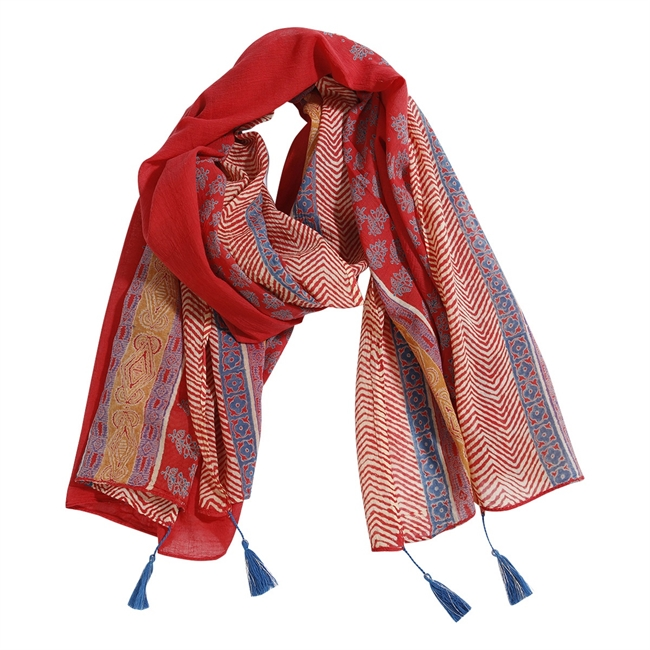 Picture of Parero/scarf Bailey, red mix