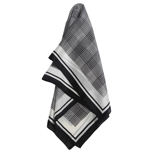 Picture of Mini scarf Natalie, grey/black