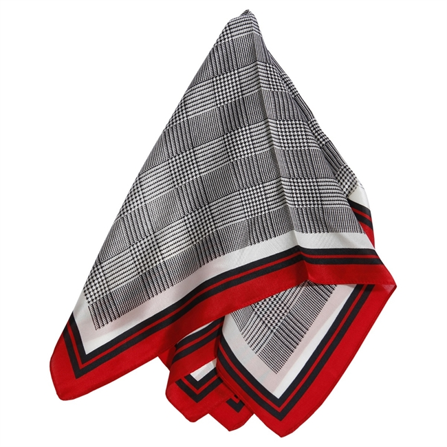 Picture of Mini scarf Natalie, grey/red
