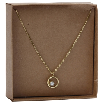 Picture of Necklace Emelie, goldp/pearl