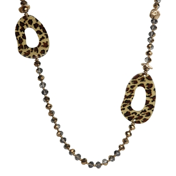 Picture of Necklace Leo, brown/gold
