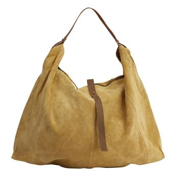 Picture of Shoulder bag Panama, mustard suede