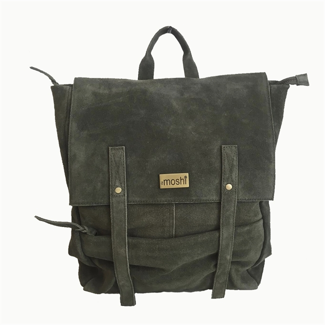 Picture of Back pack Sofia, olive green suede
