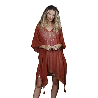 Picture of Kaftan Bella, burnt red