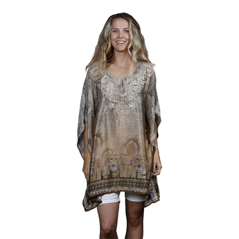 Picture of Kaftan Laila, beige mix