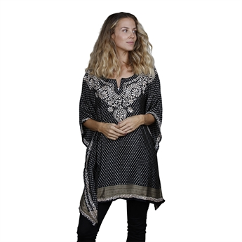 Picture of Kaftan Lola, black/beige mix