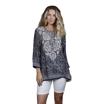 Picture of Tunic Adriana, size Small, blue/beige