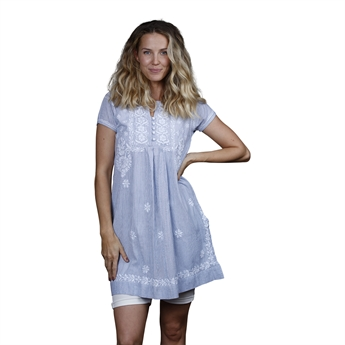 Picture of Tunic Adeline, size Large, white/blue