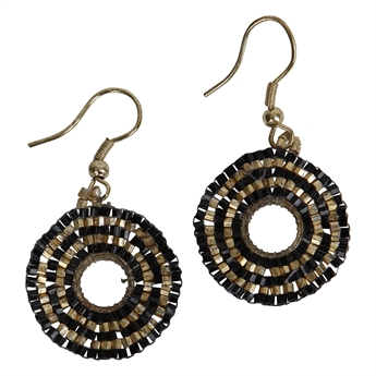 Picture of Earring Mary, black.