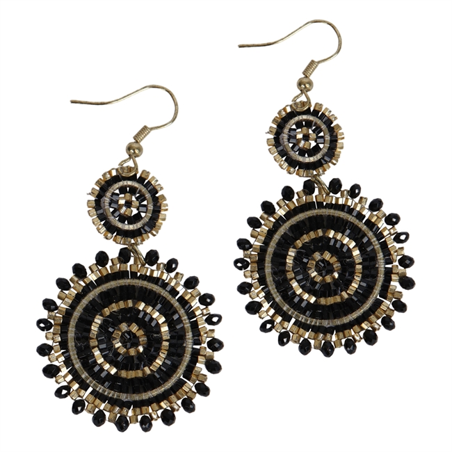 Picture of Earring Margret, black.