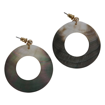 Picture of Earring Hannah, gold/grey.
