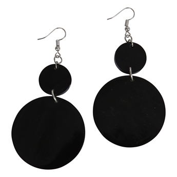 Picture of Earring Aria, black.