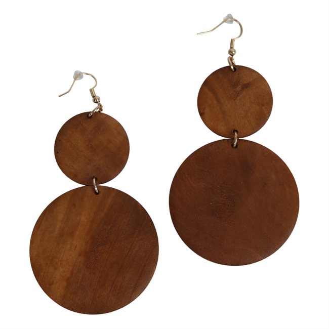 Picture of Earring Aria, brown.