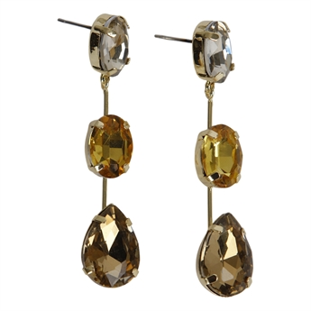 Picture of Earring Layla, brown.