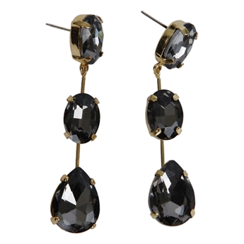 Picture of Earring Layla, grey.