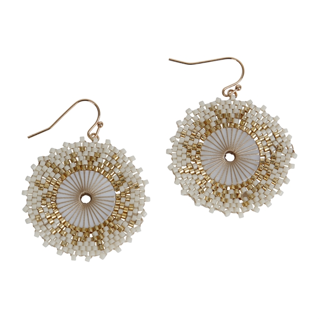 Picture of Earring Chloe, ivory.