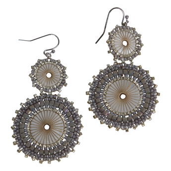 Picture of Earring Victoria, grey.