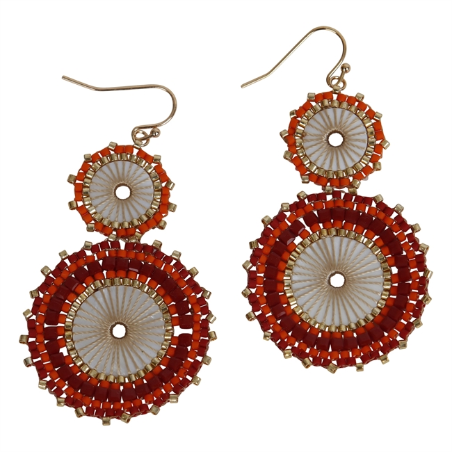 Picture of Earring Victoria, red.