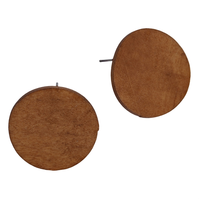 Picture of Earring Nora, brown.