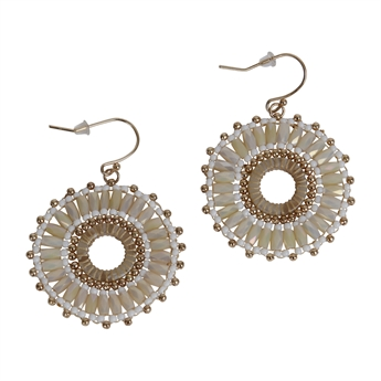 Picture of Earring Madisson, ivory.