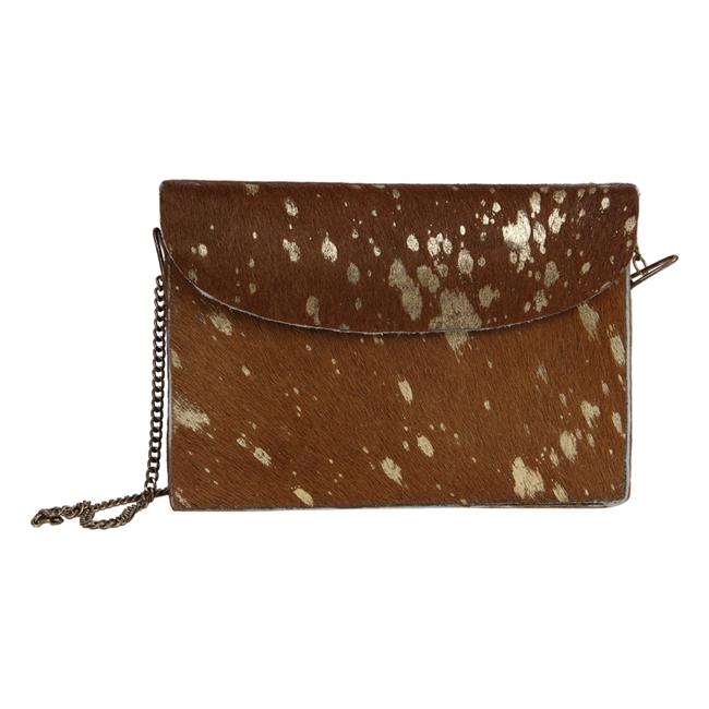 Picture of Handbag Sadie, brown/gold