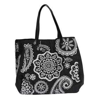 Picture of Shoulder bag Flora, black/white.