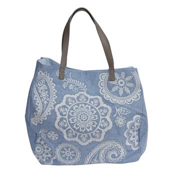 Picture of Shoulder bag Flora, blue/white.