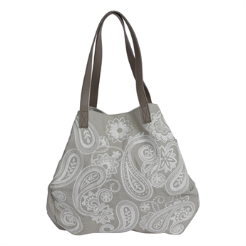 Picture of Shoulder bag Tiffany, grey/white.
