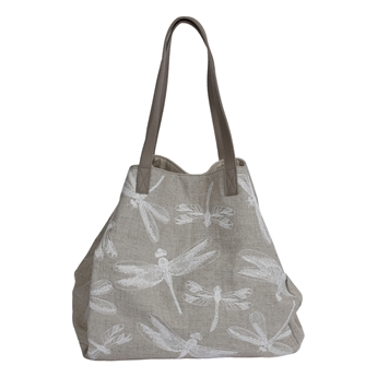 Picture of Shoulder bag Dragonfly, beige/white.