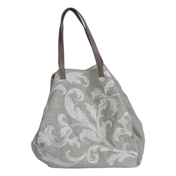 Picture of Shoulder bag Mary, grey/white.