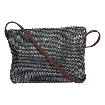 Picture of Shoulder bag Marmi, silver/black.