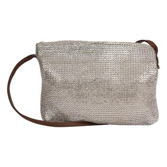 Picture of Shoulder bag Marmi, silver/natural.