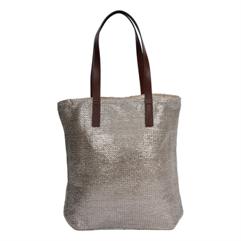 Picture of Bag Marmi, silver/natural.