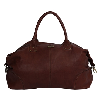 Picture of Weekend bag Amsterdam, dk brown leather