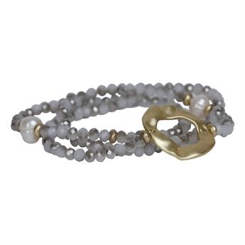 Picture of Bracelet/necklace Violet, grey/silver.