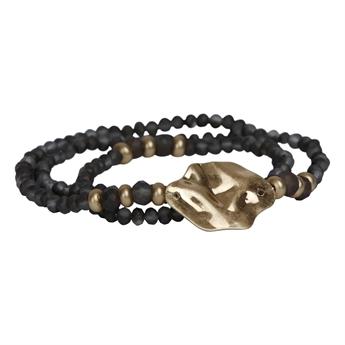 Picture of Bracelet/necklace Ellie, grey/gold.