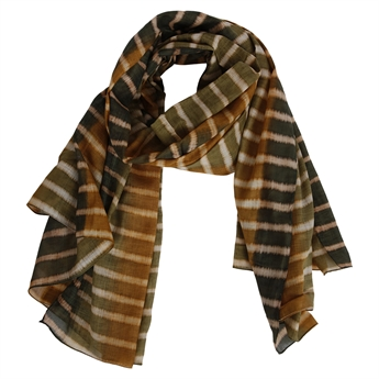 Picture of Scarf Magnolia, green/gold