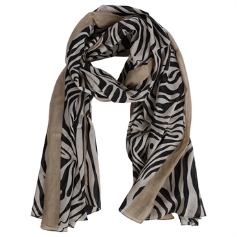 Picture of Scarf Adriana, beige/black