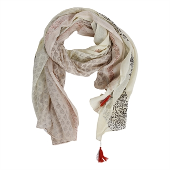 Picture of Parero/scarf Myra, red/beige