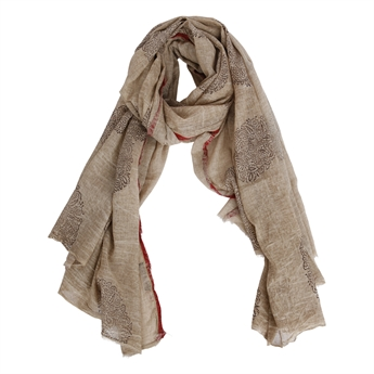 Picture of Parero/scarf Rachel, beige/red
